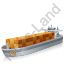 Container Ship Grey Icon, PNG/ICO, 64x64