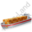 Container Ship Red Icon