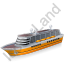 Cruise Ship Yellow Icon, PNG/ICO, 64x64