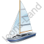 Sailboat Grey Icon