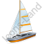 Sailboat Yellow Icon, PNG/ICO, 64x64