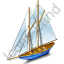 Sailing Ship Blue Icon
