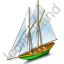 Sailing Ship Green Icon