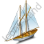 Sailing Ship Grey Icon, PNG/ICO, 64x64