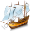 Schooner Yellow Icon