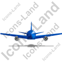 Airliner Back Blue Icon, PNG/ICO, 128x128