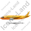 Airliner Left Yellow Icon