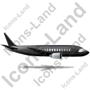 Airliner Right Black Icon