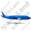 Airliner Right Blue Icon, PNG/ICO, 128x128