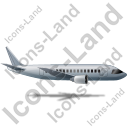 Airliner Right Grey Icon, PNG/ICO, 128x128