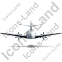 Airplane Back Black Icon, PNG/ICO, 128x128