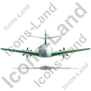 Airplane Back Green Icon, PNG/ICO, 128x128