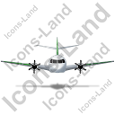 Airplane Front Green Icon, PNG/ICO, 128x128