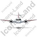 Airplane Front Red Icon, PNG/ICO, 128x128