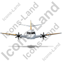 Airplane Front Yellow Icon, PNG/ICO, 128x128