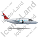 Airplane Right Red Icon, PNG/ICO, 128x128