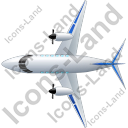 Airplane Top Blue Icon