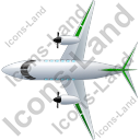Airplane Top Green Icon