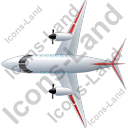 Airplane Top Red Icon, PNG/ICO, 128x128