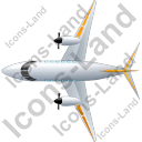Airplane Top Yellow Icon, PNG/ICO, 128x128