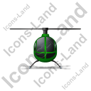 Helicopter Front Green Icon