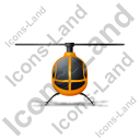 Helicopter Front Yellow Icon, PNG/ICO, 128x128