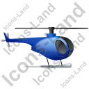 Helicopter Right Blue Icon