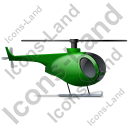 Helicopter Right Green Icon