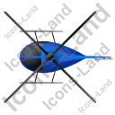 Helicopter Top Blue Icon, PNG/ICO, 128x128