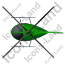 Helicopter Top Green Icon, PNG/ICO, 128x128
