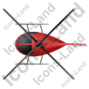 Helicopter Top Red Icon, PNG/ICO, 128x128