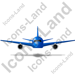 Airliner Front Blue Icon
