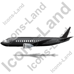 Airliner Left Black Icon