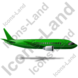 Airliner Right Green Icon