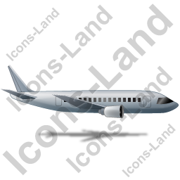 Airliner Right Grey Icon, PNG/ICO, 256x256