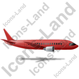 Airliner Right Red Icon
