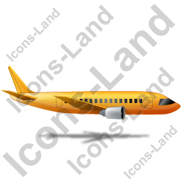 Airliner Right Yellow Icon