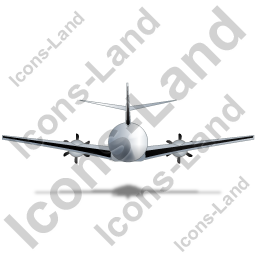 Airplane Back Black Icon, PNG/ICO, 256x256