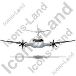 Airplane Front Black Icon