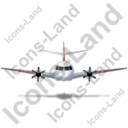 Airplane Front Red Icon, PNG/ICO, 256x256