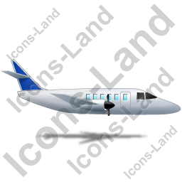Airplane Right Blue Icon