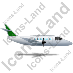 Airplane Right Green Icon