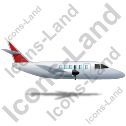 Airplane Right Red Icon, PNG/ICO, 256x256