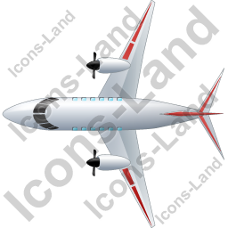 Airplane Top Red Icon, PNG/ICO, 256x256