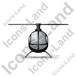 Helicopter Front Black Icon