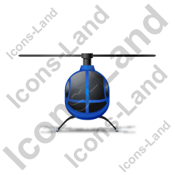 Helicopter Front Blue Icon