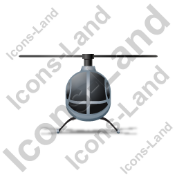 Helicopter Front Grey Icon
