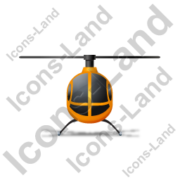 Helicopter Front Yellow Icon, PNG/ICO, 256x256