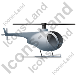 Helicopter Right Grey Icon, PNG/ICO, 256x256
