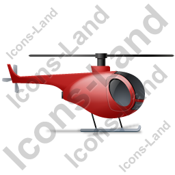 Helicopter Right Red Icon